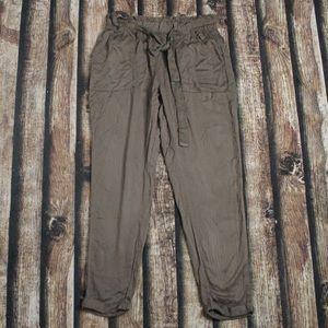 🎀3/$30 George Army Green Paper Bag Pants